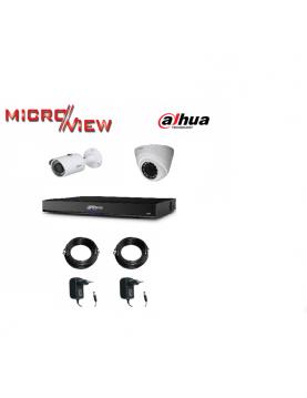 1 Caméra HAC-HDBW1100E + 1 Caméra HAC-HFW1100S + Enregistreur XVR4104HS