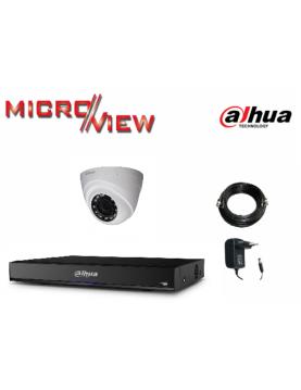 1 Caméra HAC-HDW1100R + 1 Enregistreur XVR4104HS-X1