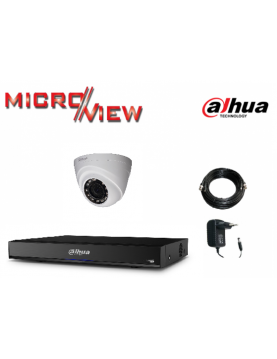 1 Caméra HAC-HDW1100R + Enregistreur XVR4104HS-X1