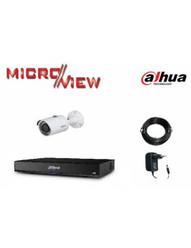 1 Caméra HAC-HFW1100S + Enregistreur XVR4104HS-X1