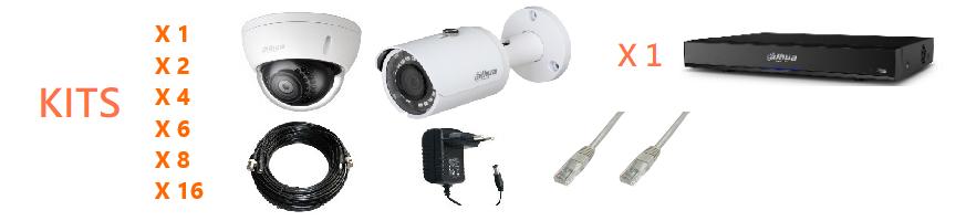 Kit vidéosurveillance IP et HDCVI 1, 2, 4, 6, 8 ou 16 caméras | Microview