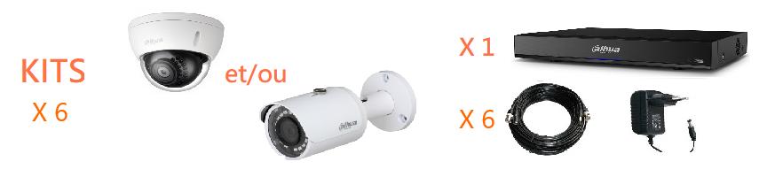 Kit vidéosurveillance HDCVI 6 caméras | Microview