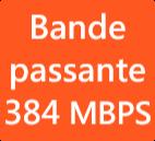 Bande passante 384 MBPS